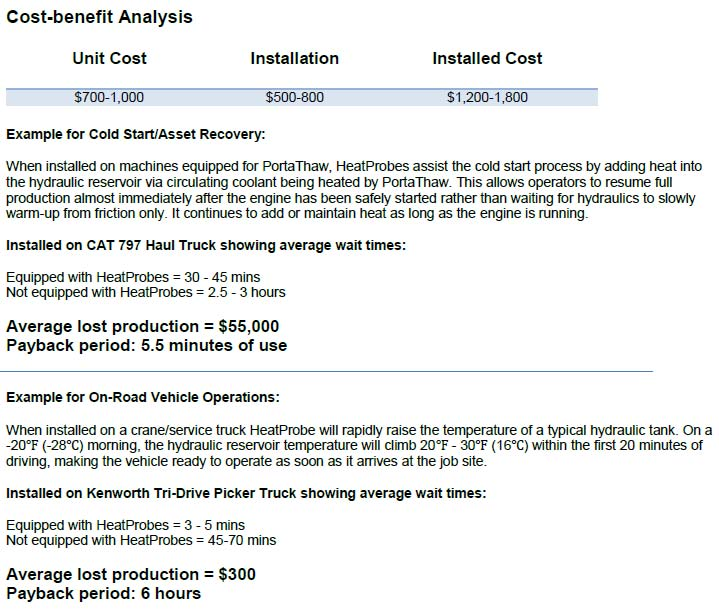HeatProbe Cost-Benefit-Analysis4