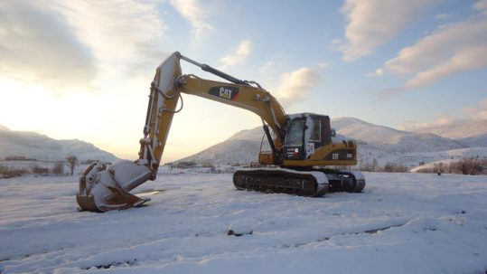 Engine Heaters Frozen CAT Excavator