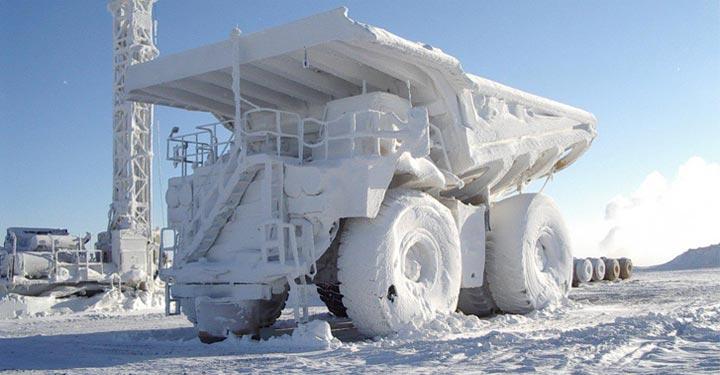 PortaThaw Frozen Mining Haul Truck CAT