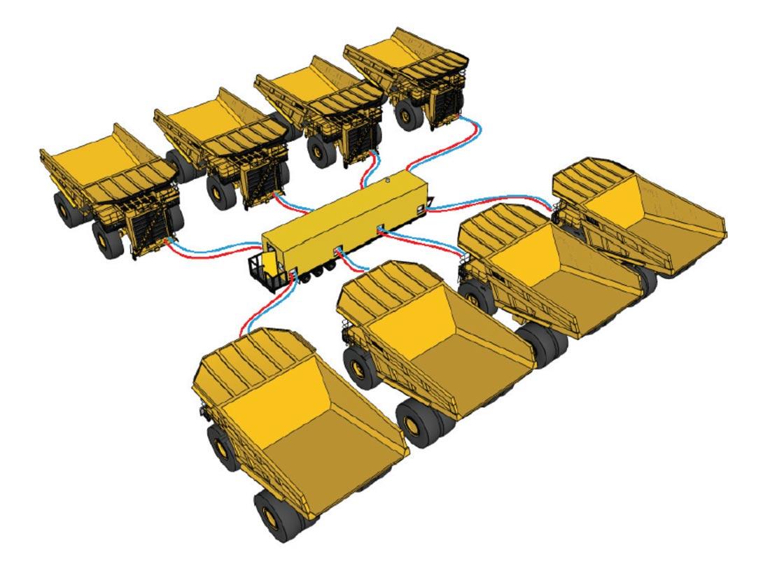 Fleet Heat Mobile Fleet Heating System - Haul Trucks Layout Diagram