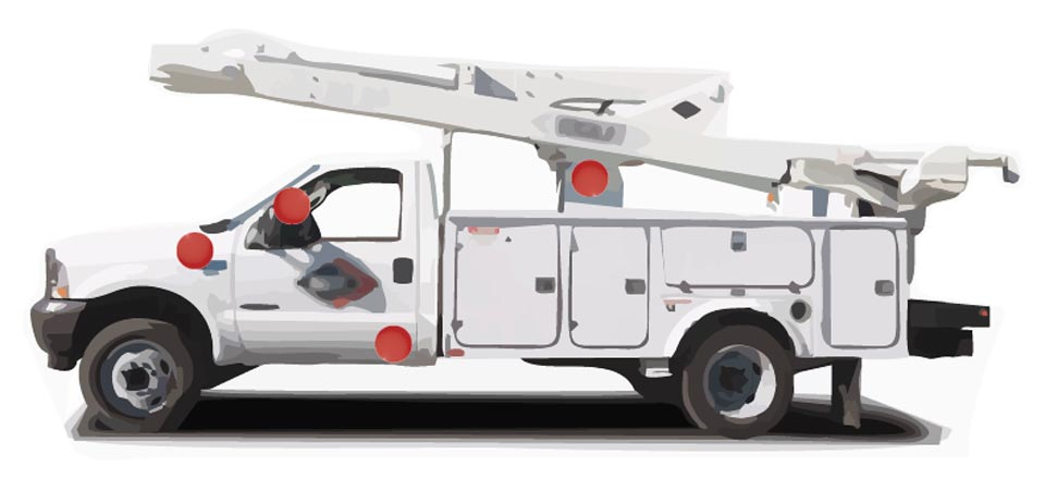 public-works-utilities-bucket-truck